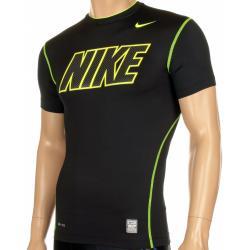772ad99bef30cd Run4Fun.pl: Kompresyjna koszulka na siłownię - Nike Core Compression Short  Sleeve Carbon Top, Krótki rękaw, kolor: czarny/zielony, kod: 465158-011; ...