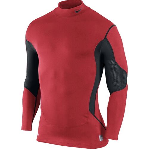 4543c17808fb25 Run4Fun.pl: Ciepła koszulka termoaktywna do biegania - Nike Pro Combat  Ultrawarm Compression Speed Mock, Koszulki, kolor: czerwony/czarny, kod:  380456-648; ...