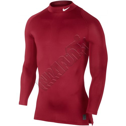 Nike Pro Cool Compression Long-Sleeve Gym Red/Team Red/White Good Quality