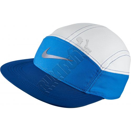 Regulowana czapeczka z kieszonką na zamek Nike Womens AW84 Run Zip, Czapki z daszkiem, kolor: niebieskigranatowy biały, kod: 778371 406; buty do