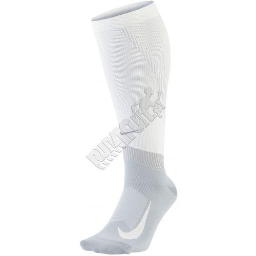 Skarpety kompresyjne za łydkę Nike Elite Compression Over The Calf Running Socks, Skarpety, kolor: białyszary, kod: SX6267 100; buty do