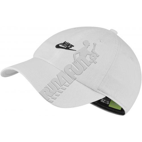 Bawełniana czapeczka z daszkiem Nike Sportswear H86 Just Do It Rebel Cap, Czapki z daszkiem, kolor: białyczarny, kod: CI3481 100; buty do